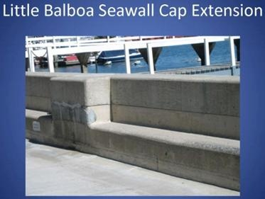 Little Balboa Seawall Cap Extension