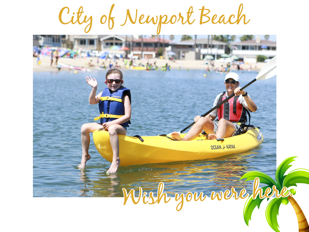 City of Newport Beach Kayaking Photo, Wish you were here