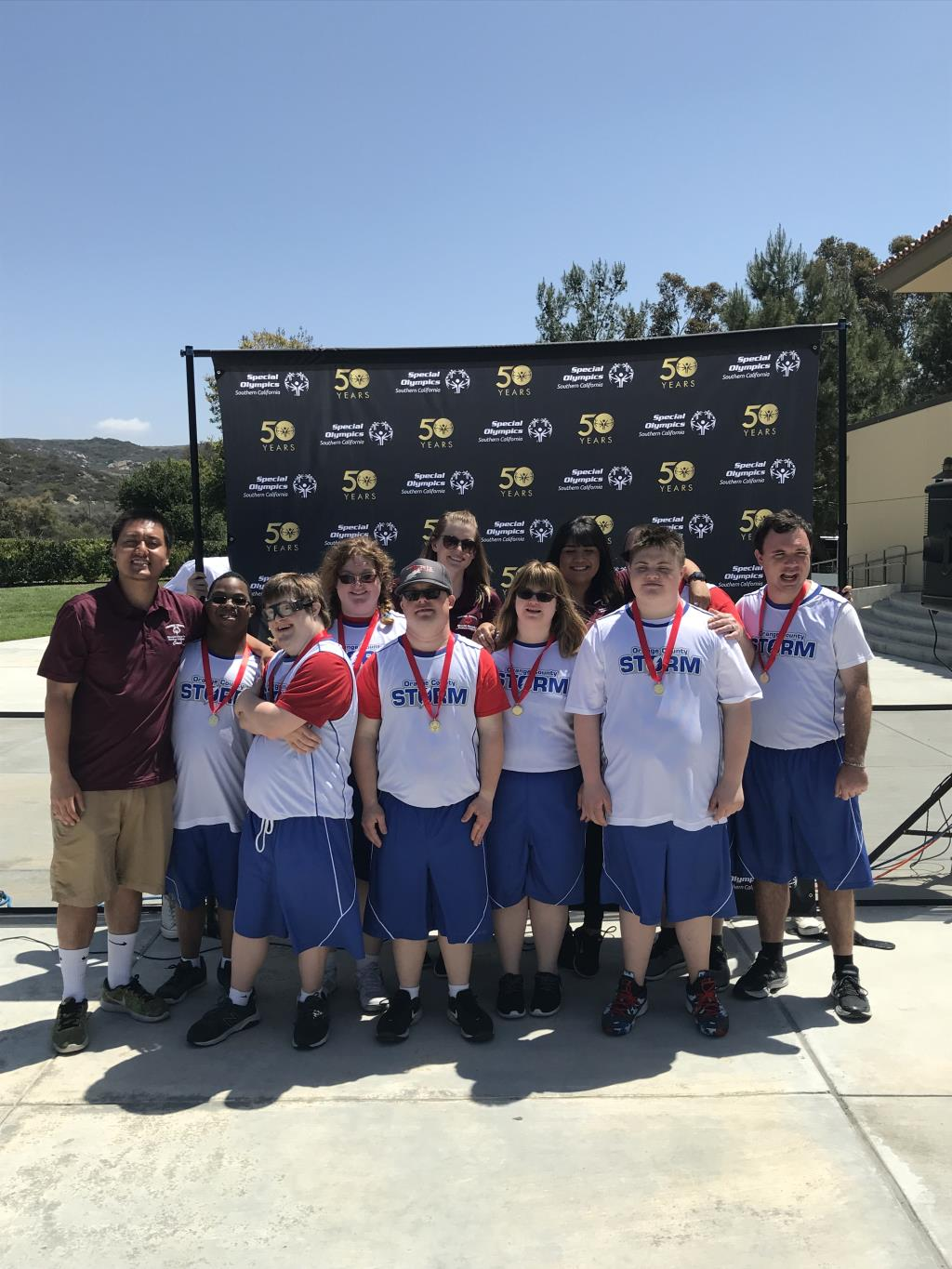 Special Olympics basketball team 2018