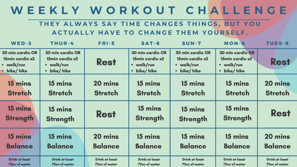 Weekly Workout Challenge 11